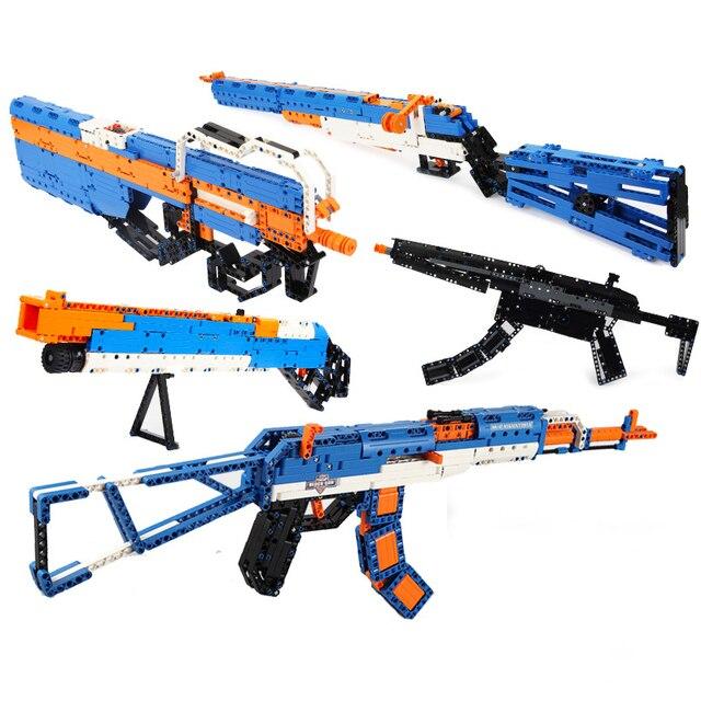Revolver Pistol Power GUN SWAT Military Army Model Building Blocks Brick Set Weapon Compatible PUBG Toys For Boys 1