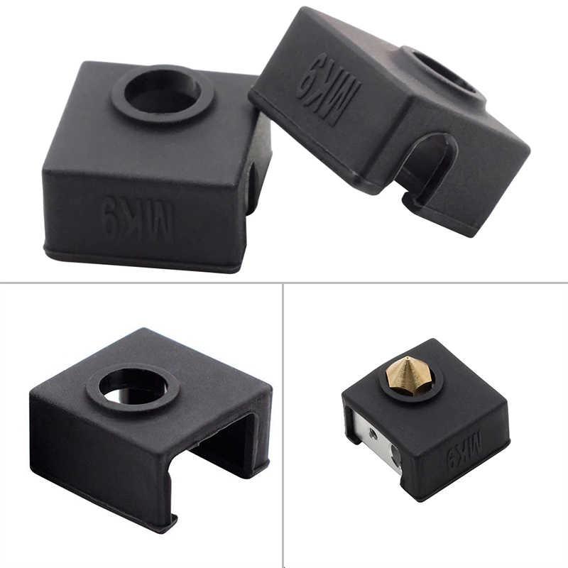 2pcs עמיד 3D מודפס אביזרי סיליקון כיסוי חם סוף גרב מכסה עבור Creality CR-10 10S S4 S5 אנדר 2/3/4/5 פרו
