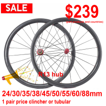 Wheels Tubular 88mm Clincher Powerway Bitex Super-Light 50 60 Or R13 Carbon R13-Hub 35-38-45