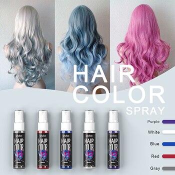 Sevich 30ml Temporary Hair Dye Spray DIY Hair Color Liquid Washable 5 colors One Time Hair Color Spray Instant color 1