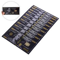 Античная черная Золотая фольга $100 памятные доллары банкноты Поддельные Банкноты бумажные деньги для украшения дома подарок