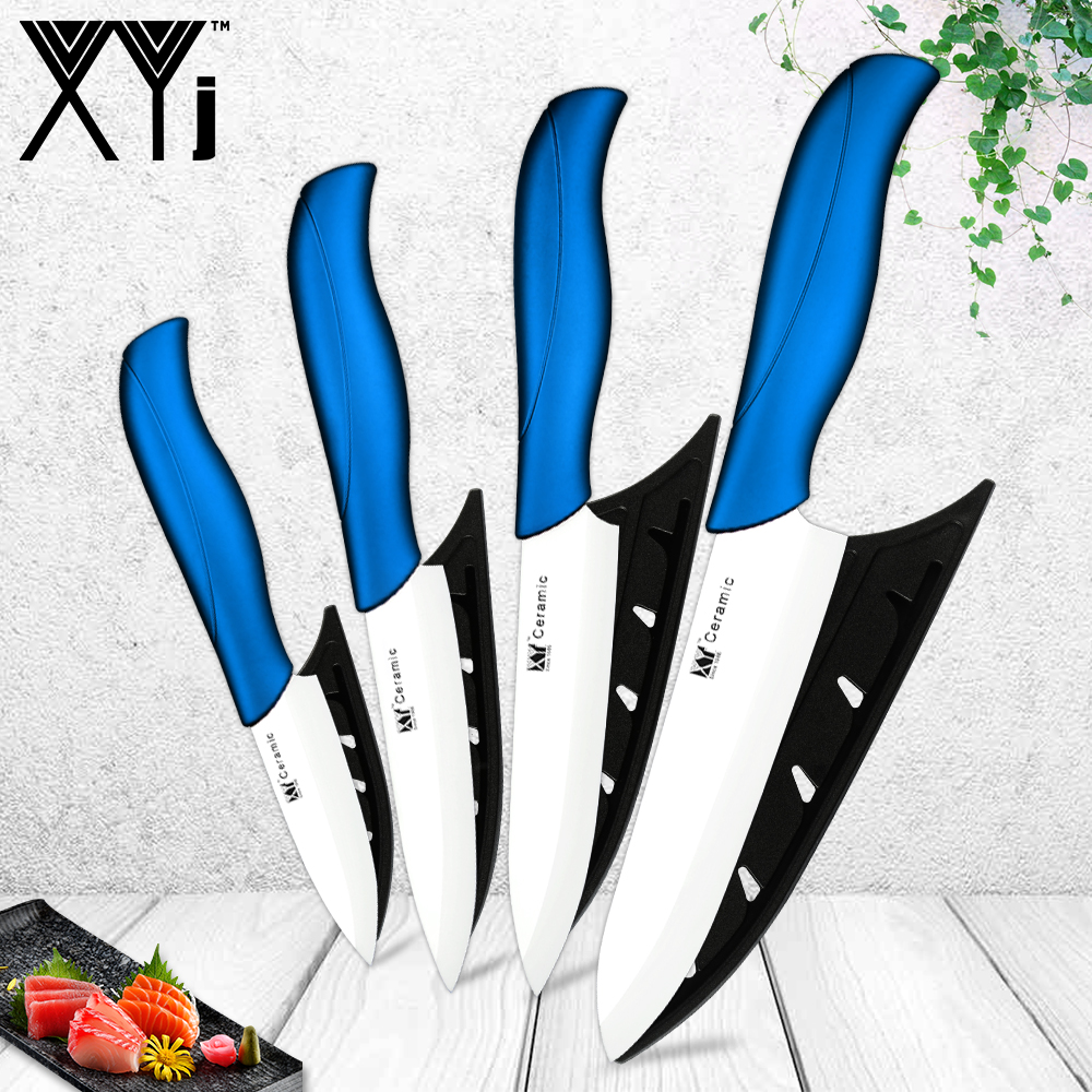 3/4/5/6 Inch Ceramic Kitchen Knives Set White/Black Blade Colorful Handle Paring Pare Peel Slice Ceramic Knife Cooking Tool 1