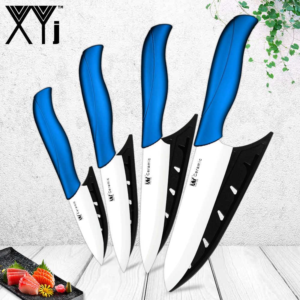 Conjunto de facas de cozinha de cerâmica 3/4/5/6 Polegada, lâmina branca/preta, colorida, com cabo, para descascar faca de cerâmica utensílio de cozinha