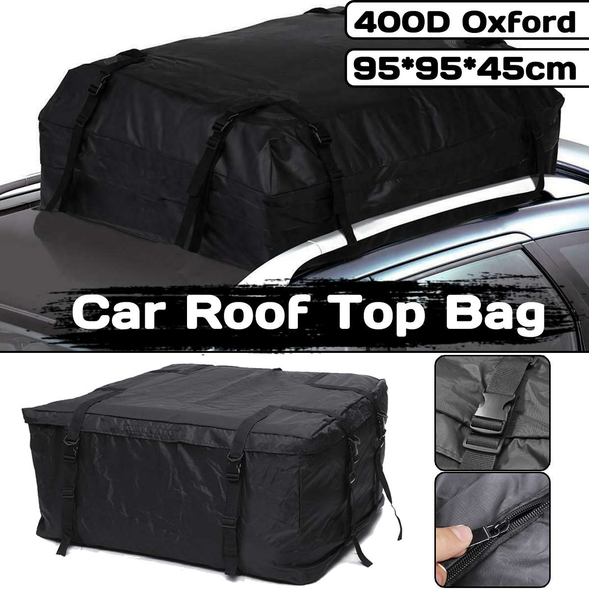 2 Style Waterproof Reinforce Car Roof Top Carrier Cargo Luggage Travel Bag Storage Bag For Vehicles With Roof Rails
