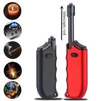 Stretch Plasma Arc Zigarette Leichter Winddicht USB Elektronische Küche Feuerzeuge Outdoor Elektrische Pulsed Leichter Gadgets für Männer