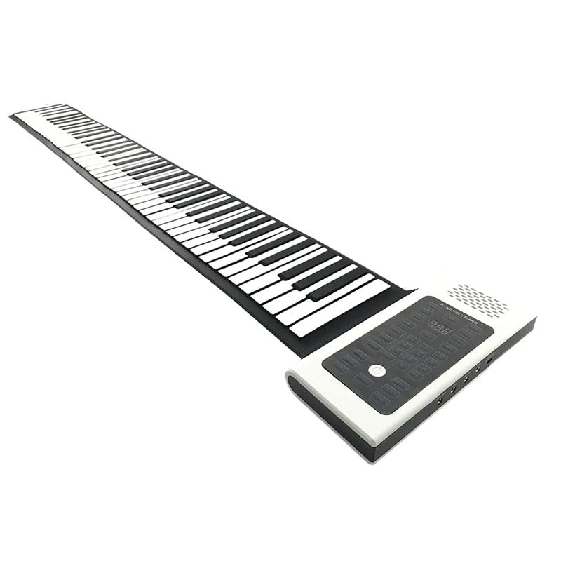 Rolo de mão piano eletrônico 88 teclas