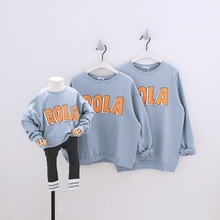 Mum Babies Family Look Clothing Father Mother Kid Daughter Son Clothes Matching Outfits Boys Hoodies Girls Sweatshirts Baby Coat cheap AIQINGSHA Outerwear Coats Casual Full Fits true to size take your normal size COTTON Letter Mother Father Kid ordinary