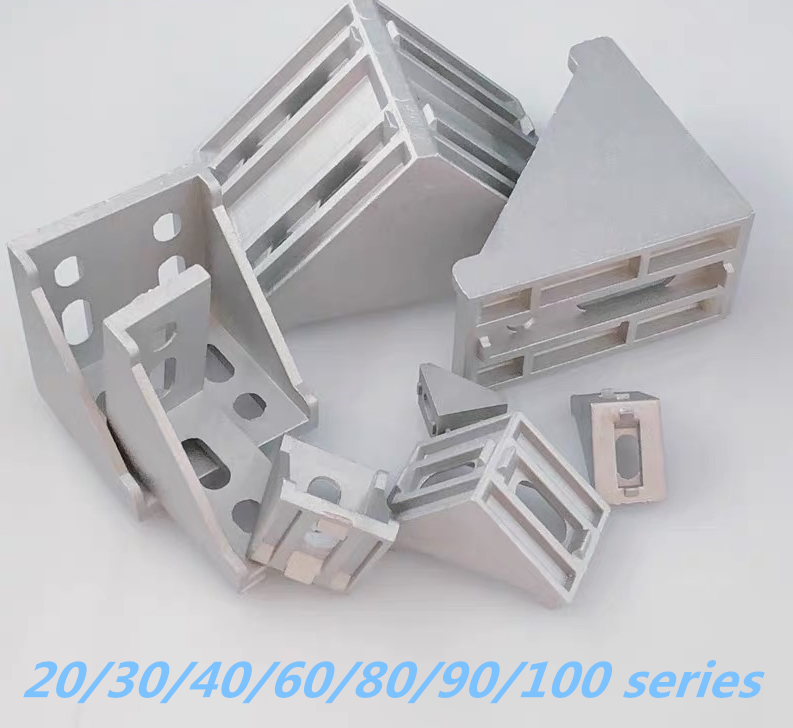 Aluminum Alloy Parts 20/30/40/60/80/90/100 Series Bracket  For Aluminum Profile Connection