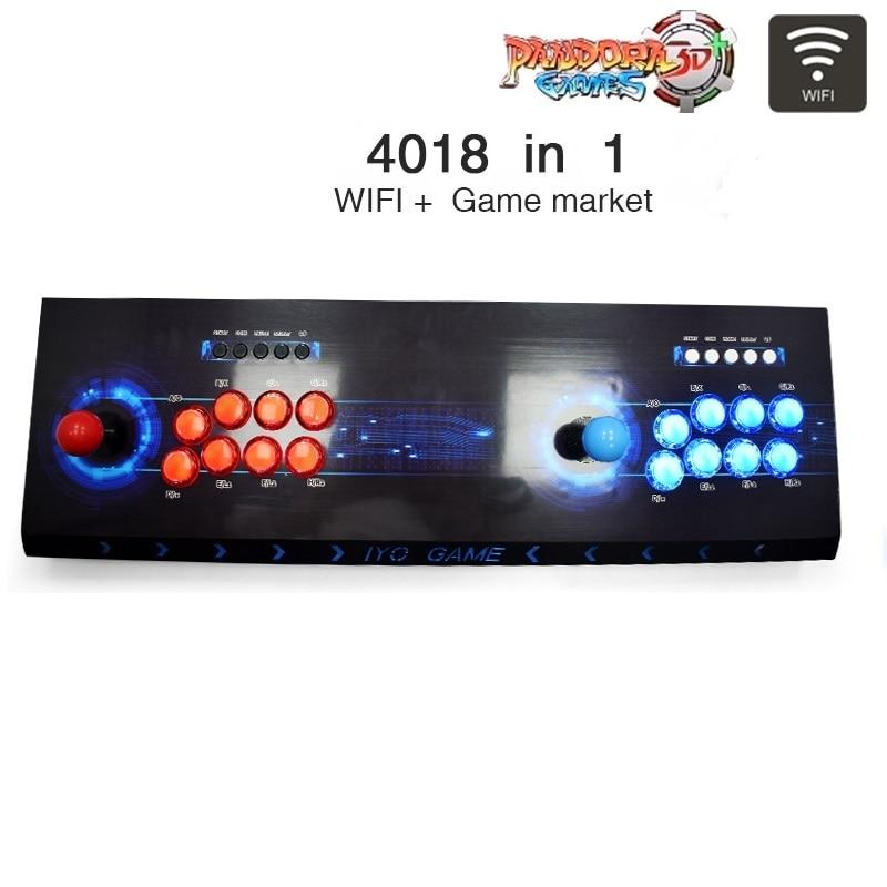 IYO Pandora Box 3D аркадная консоль с Wi-Fi 4018 кнопки джойстика без задержки контроллер Ретро аркадная консоль