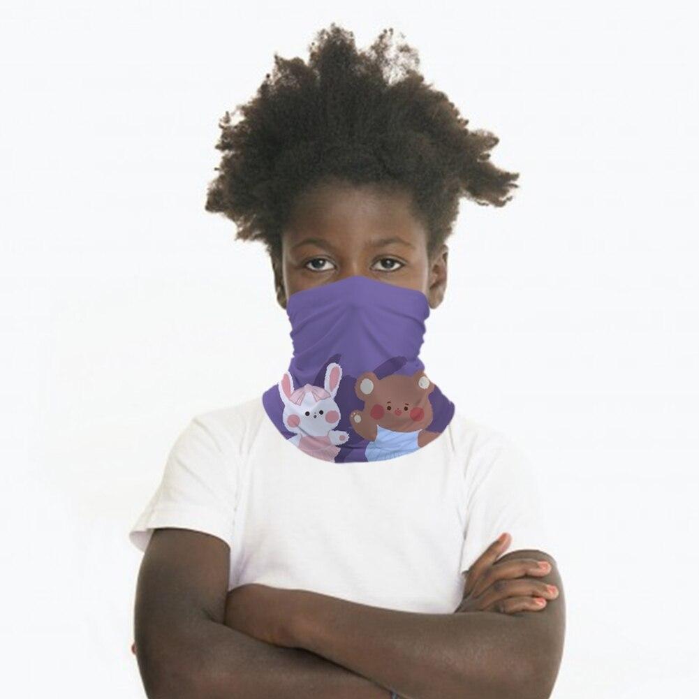 Baby Bear Kids Mask Seamless Bandana Headband Face Cover Tube Scarf Balaclava Headwear