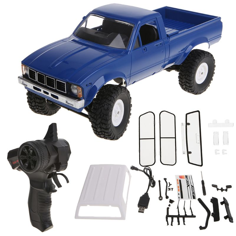 <font><b>WPL</b></font> <font><b>C24</b></font> RC Car 1:16 4WD Remote Control 2.4G Crawler Off-road Buggy Moving Machine Kids Gift Y4QA image