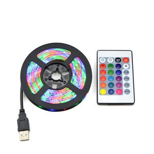 RGB LED Lights 2835 SMD 60LED/M Cabinet Kitchen LED Tape 1-5m Waterproof Strip Closet TV Decoration Lamp 5V USB Cable Charging(China)