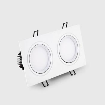 square Dimmable Led downlight light cob Ceiling Spot Light 5w 7w 10w 20w ac85-265V ceiling recessed Lights Indoor Lighting dimmable led downlight spot lights ceiling backdrop ceiling down lamp include driver 10w 2 10w white shell black shell