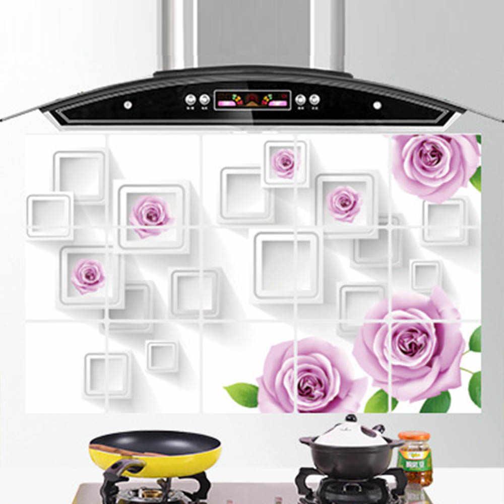 Nowa gorąca kuchnia folia aluminiowa samoprzylepne mozaikowe naklejki łazienka wodoodporna naklejka ścienna olejoodporny naklejki na tapetę
