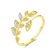 купить 2019 New Fashion Open Finger leaf Rings For Women Girls gold color Jewelry Crytal CZ Ring Wedding Engagement Jewelry Party Gift по цене 512.58 рублей