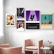 La la terra música filme arte da lona pintura da parede impressão moderna cartaz fotos para sala de estar decoração