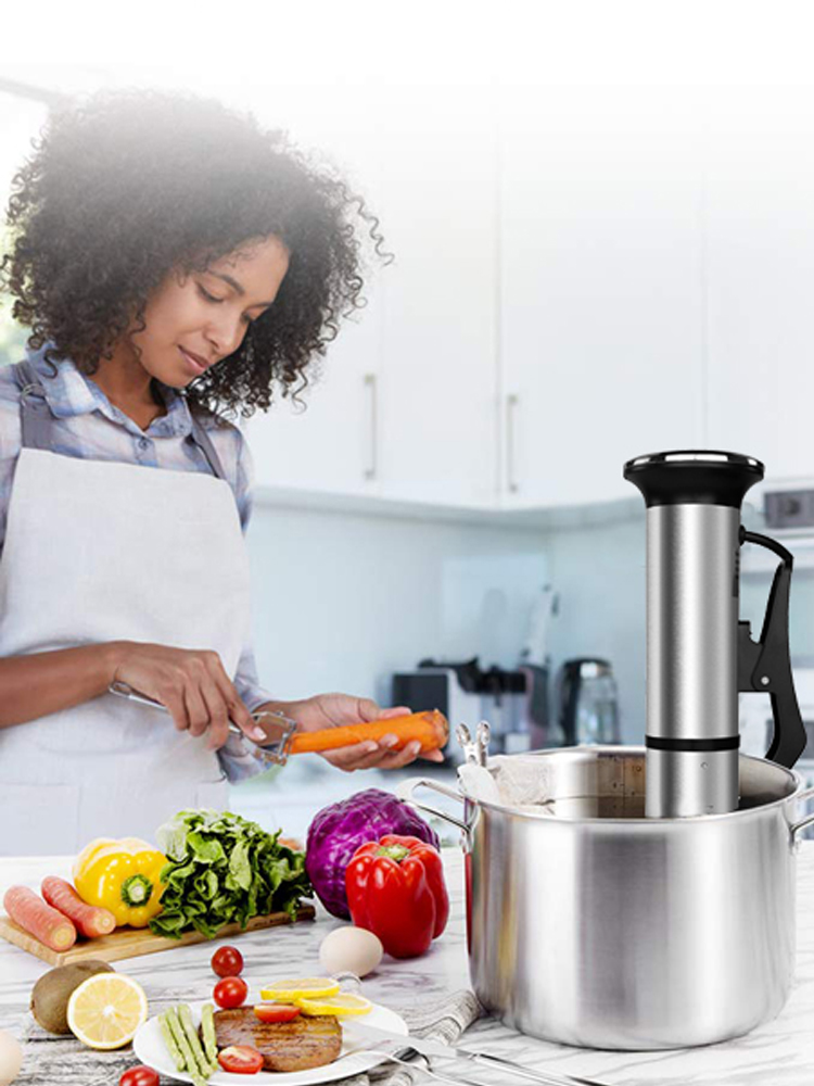 Biolomix Stainless-Steel Cooker Circulator-Machine Sous Vide Immersion IPX7 Digital 2nd-Generation