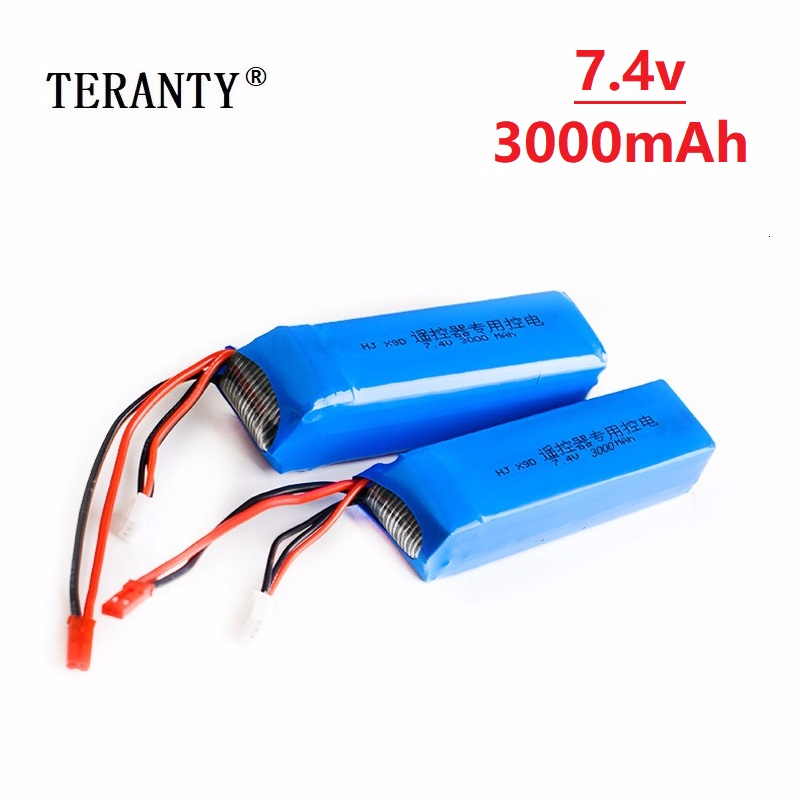 Original 7.4V <font><b>3000mAh</b></font> <font><b>Lipo</b></font> Battery for Frsky Taranis X9D Plus Transmitter Toy Accessories <font><b>2s</b></font> 7.4v Rechargeable battery 5pcs image