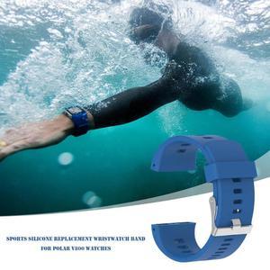 Image 5 - Siliconen Vervanging Polshorloge Band Voor Polar V800 Smart Armband Met Tool Smart Horloge Band Accessoires Voor Mannen Vrouwen 18.5cm