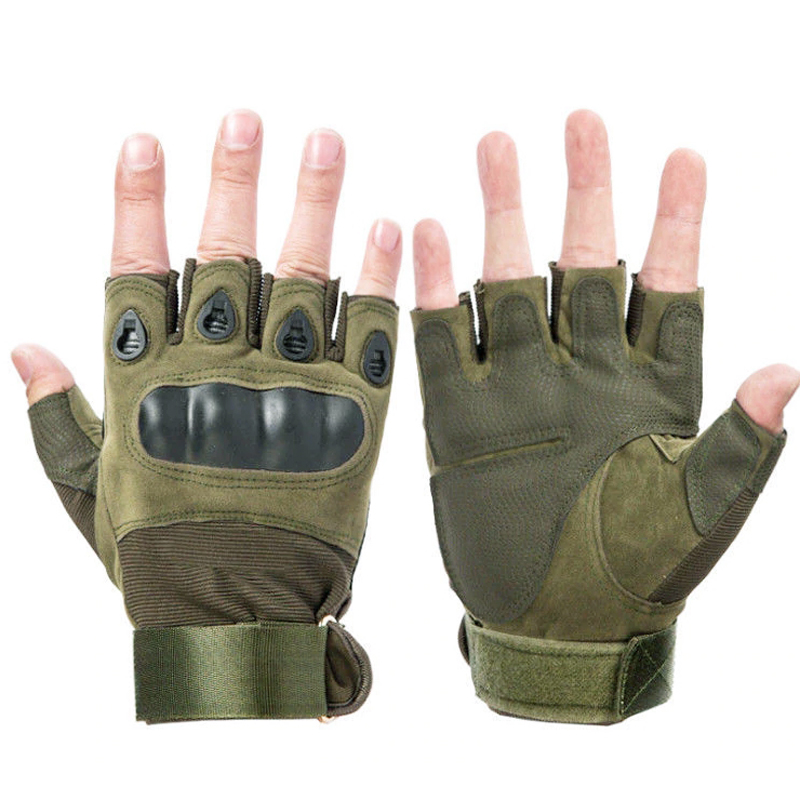 Fingerless Tactical Gloves Military Army Shooting Bicycle Paintball Airsoft Carbon Hard Knuckle Half Finger Gloves Men