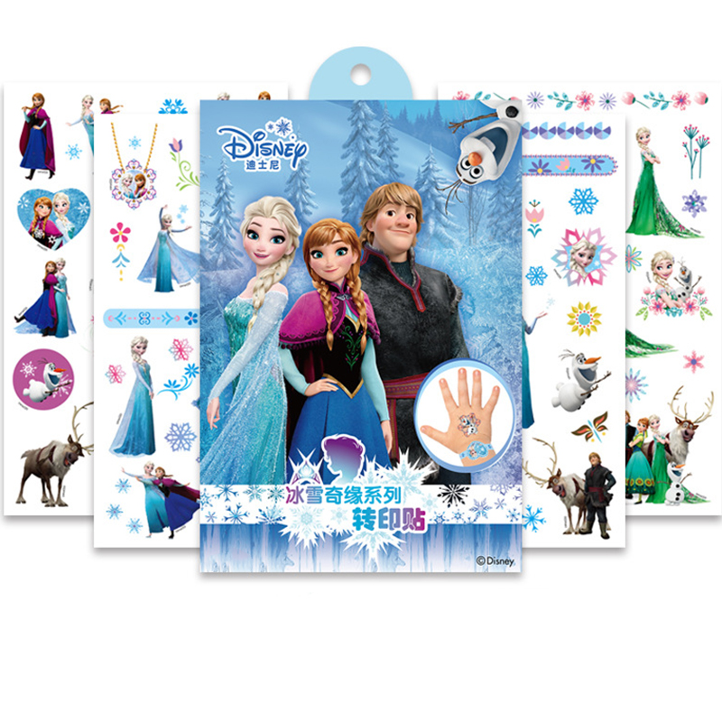 Disney Toy Story Woody Buzz Child Temporary Tattoo Body Art Flash Tattoo Stickers Frozen Elsa Anna Waterproof  Styling Sticker
