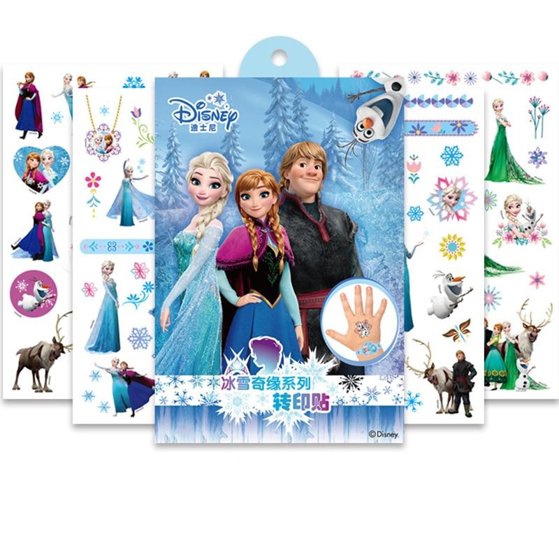 Disney Toy Story Woody Buzz Child Temporary Tattoo Body Art Flash Tattoo Stickers Frozen Elsa Anna Waterproof  Styling Sticker