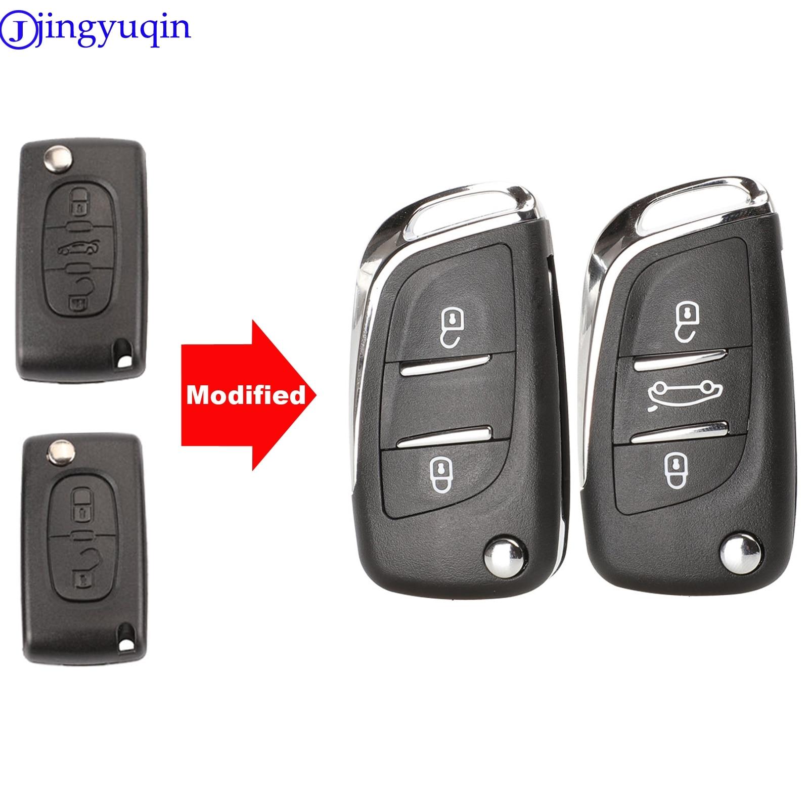 Jingyuqin CE0523 модифицированный раскладной чехол для ключей Peugeot 306 407 807 Partner Remote VA2/HU83 Blade Entry Fob Case 2/3 кнопка