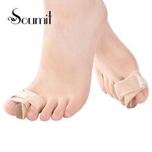 Soumit 2 Pcs Silicone Bunion Corrector Big Toe Straightener Gel Toe Separator Hallux Valgus Protector for Toe Foot Care Tool