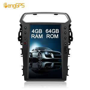 "13"" Car GPS Navigation for Explorer 2011-2019 Multimedia DVD Player Unit Buitl-in Carplay Android 4+64G Tesla Vertical Screen(China)"