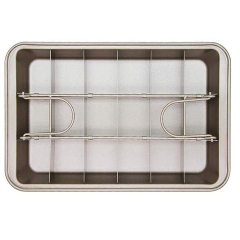 Professional Bakeware Baking Tools Easy Cleaning Square Lattice Chocolate Cake Mold Brownie Baking Pan Non-Stick image