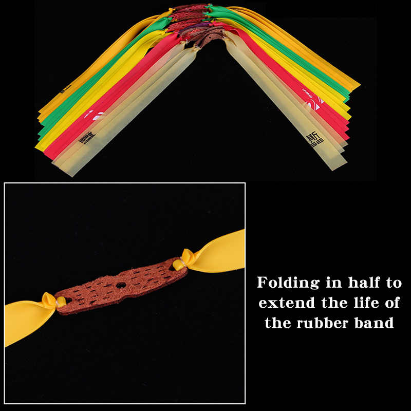 5/10pc slingshot 플랫 고무 밴드 투석기 활 자연 라텍스 탄성 탄력 고무 밴드 야외 사냥 슈팅 액세서리