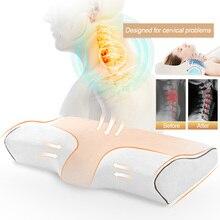 Urijk подушки в форме бабочки ортопедические подушки массаж пены памяти подушки для сна шеи боли шейки