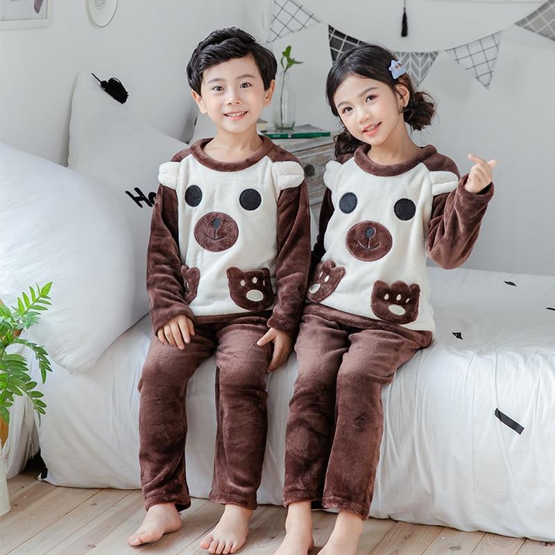 Новинка года; зимняя детская флисовая Пижама; теплая фланелевая одежда для сна; домашняя одежда для девочек из кораллового флиса; детская пижама; домашняя одежда; Пижама для мальчиков - Цвет: model 13