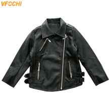 VFOCHI 2019 Boy Girl Leather Jacket Autumn Kids Children Motorcycle Unisex Winter Outwear