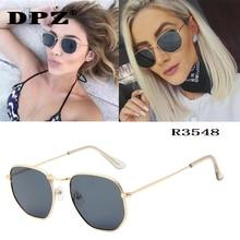 Luxury brand Women Sunglasses Brand Designer Polygon Clear Lens Sunglas
