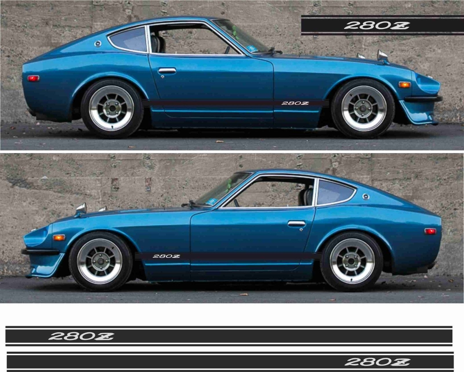 Nissan Fairlady Z >> Us 24 99 For 2pcs Pair Datsun 280z Nissan Fairlady Z Side Stripes Decals Stickers S130 Any Colour In Car Stickers From Automobiles Motorcycles