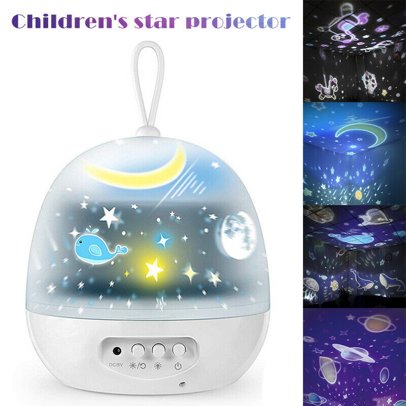 LED Projection Lamp Colorful Dimmable Led Night Lamps Star Moon Projector Led Night Lights For Kid's Bedroom Home Decor 2020 NEW