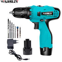 12V Electric Screwdriver Lithium Battery Electric drill  Multi-function Cordless Electric Drill Power Tools+7Accessories