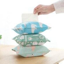 1 шт. тканевый бумажный мешок с мультяшным животным, коробка для салфеток для дома, кухни, гостиной, бумажный мешок, держатель для салфеток, коробки для салфеток, принадлежности для хранения