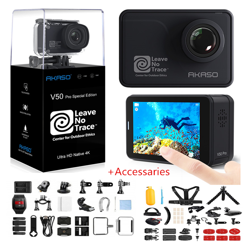 AKASO V50 Pro SE Action Camera Touch Screen Sports Camera Access Fund Special Edition 4K Waterproof Camera WiFi Remote Control