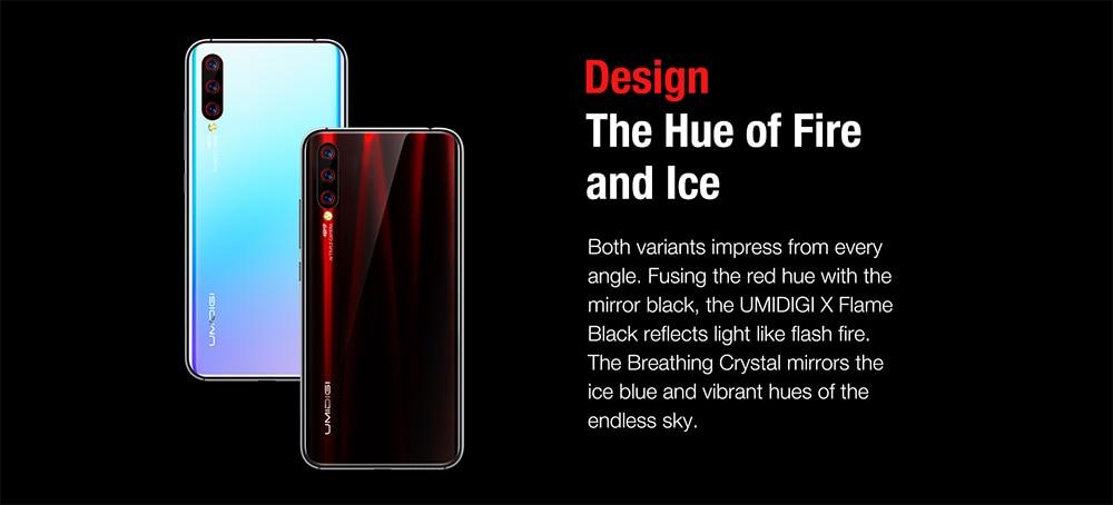 "Hefdea52029fe492bbdabf5dfe9fc7cd4A Global Version UMIDIGI X In-screen Fingerprint 6.35"" AMOLED 48MP Triple Rear Camera 128GB NFC Helio P60 4150mAh Cellphone"