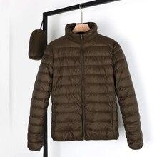 NewBang Chaqueta de plumón de tela mate para hombre, chaqueta ultraligera, Parka ligera de plumas, abrigos cálidos a prueba de viento