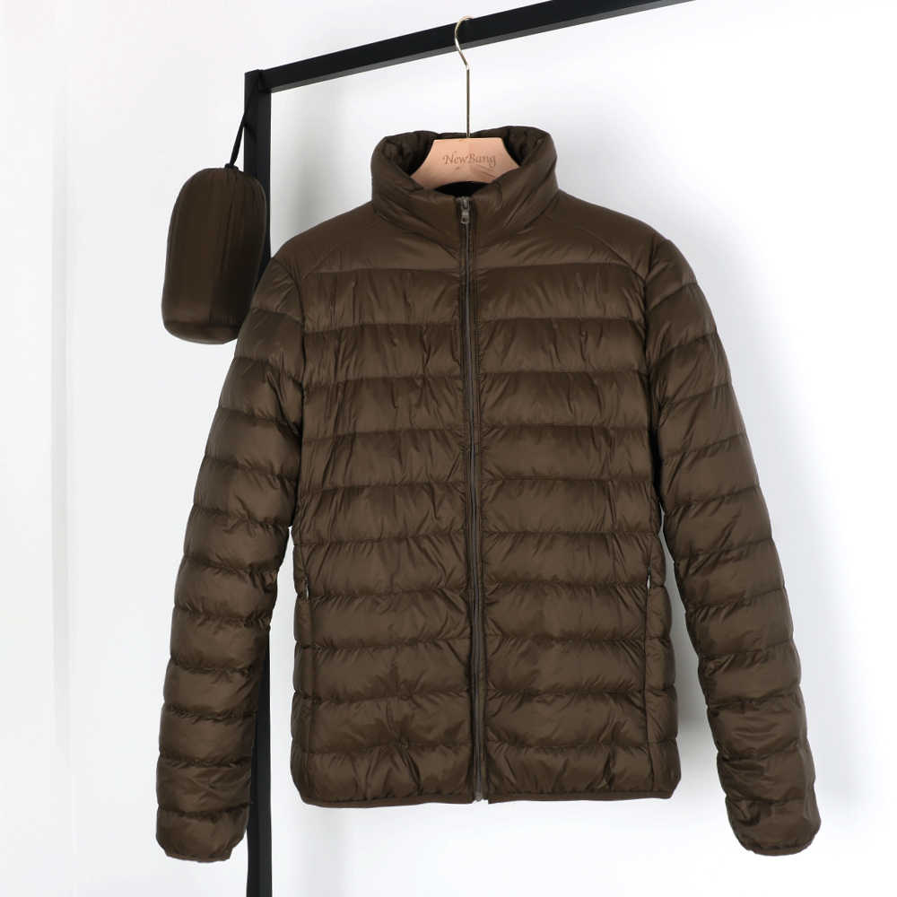 NewBang 매트 패브릭 맨 다운 재킷 울트라 라이트 다운 재킷 남자 깃털 경량 파카 Windproof 따뜻한 코트