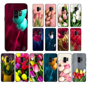 Tulip flower Novelty Fundas Phone Case Cover For Samsung Galaxy A10 30 20 40 50 30S A70 A10S 20S A2Core A71 A9 star lite Mobile image
