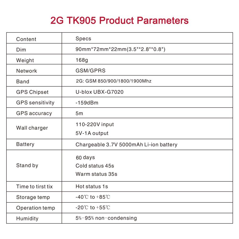 tkstar tk905 gps localizador à prova dwaterproof