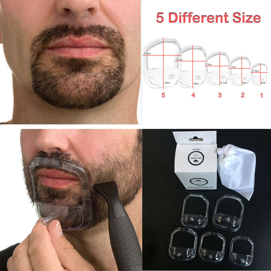 5 Pcs/set Men Shaver Holder Beard Styling Tools For Men Beard Care Grooming Kit Shaving Face Care Modeling Tool With Bags