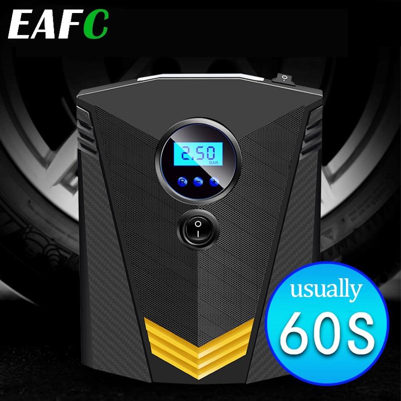 HOYOO Portable 150PSI Car Tire Inflator Digital Screen Air Compressor Pump with LED Light DC12V Pump for Car Motorcycle