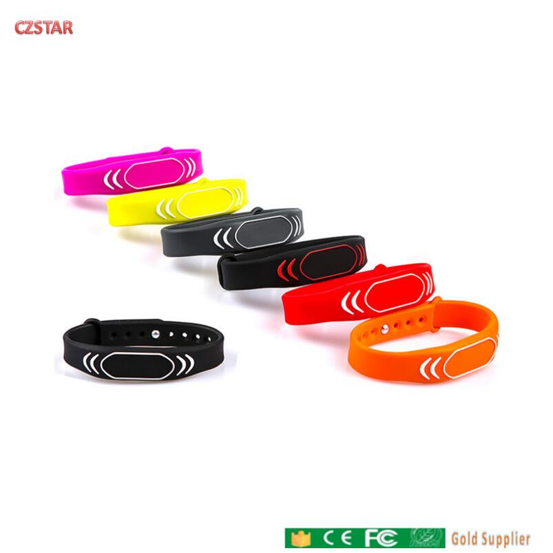 125khz TK4100 Colorful Rfid Wristband Wrist Bracelet  EM4100 Tags Waterproof Adjustable Long Range RFID Wristband Tag For Door