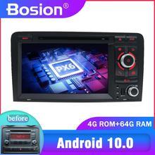 Lecteur multimédia DVD, Radio, DSP, Audio et stéréo à écran de Navigation, en bluetooth, pour Audi A3 10.0 2006, PX6, Android 2011