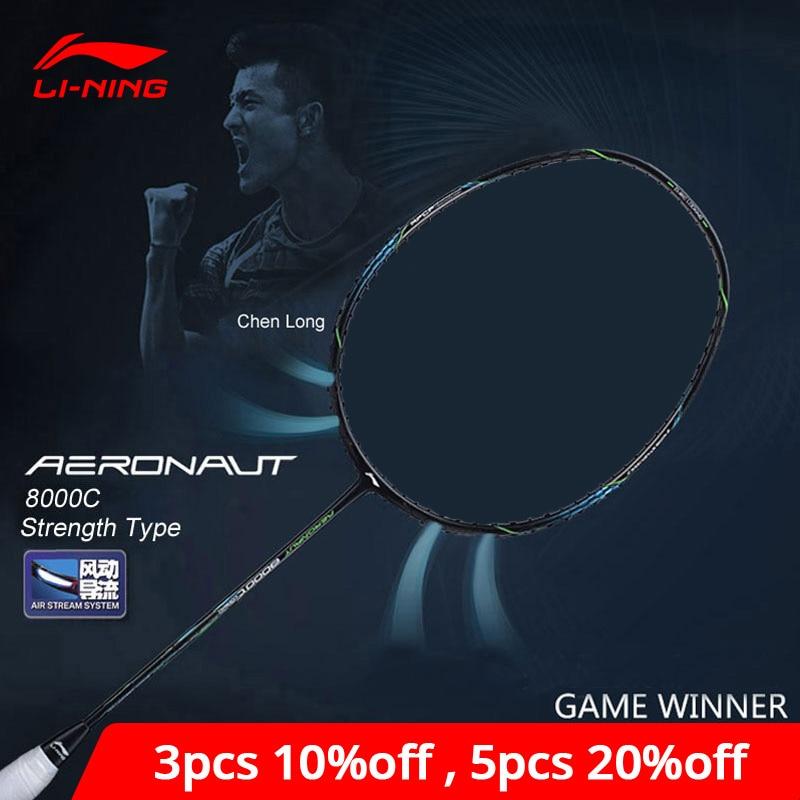 Li-Ning AERONAUT 8000C Badminton Racket Strength Type Professional High Tension Li Ning LiNing Single Racquet AYPN216 ZYF329